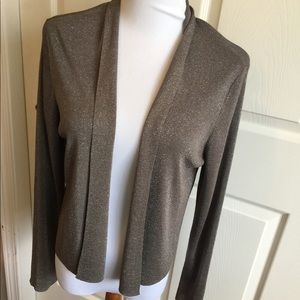 Eileen Fisher Brown Sparkle Cardigan M